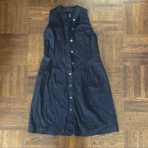 Jacob Black Tank Dress with Buttons